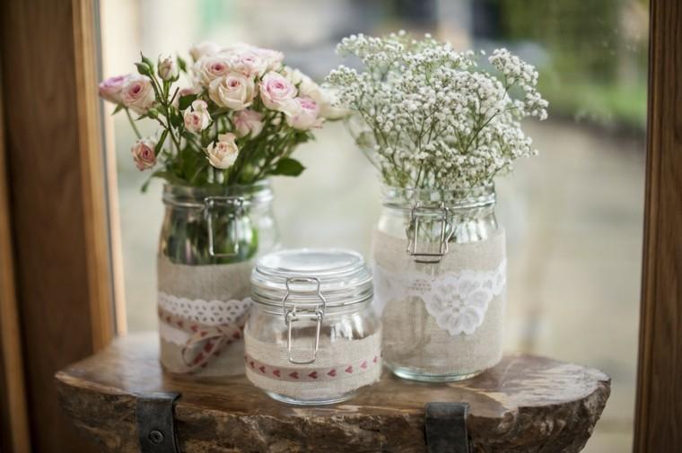 ornate glass bottels lace fabric