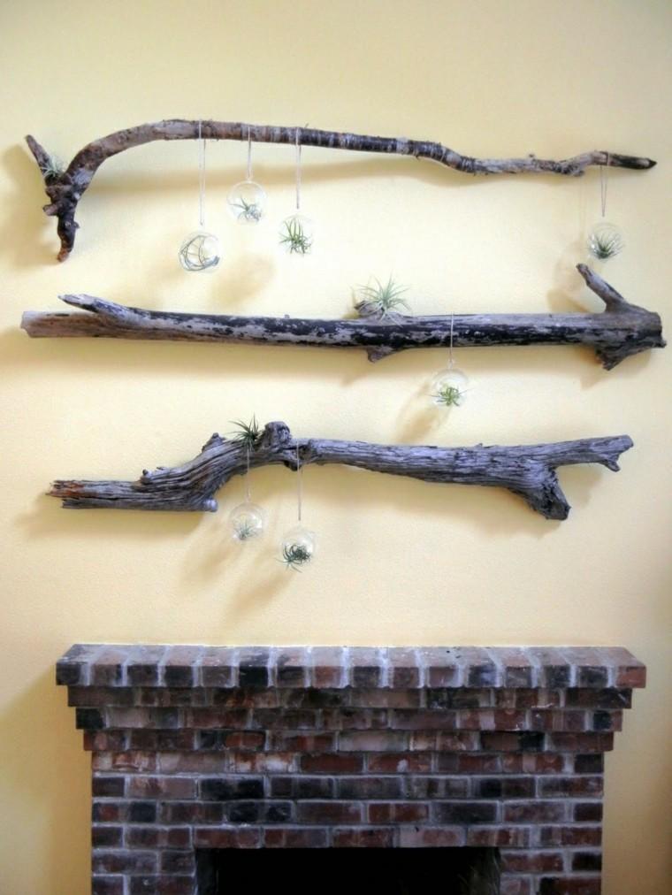 decoration wall trunks wood