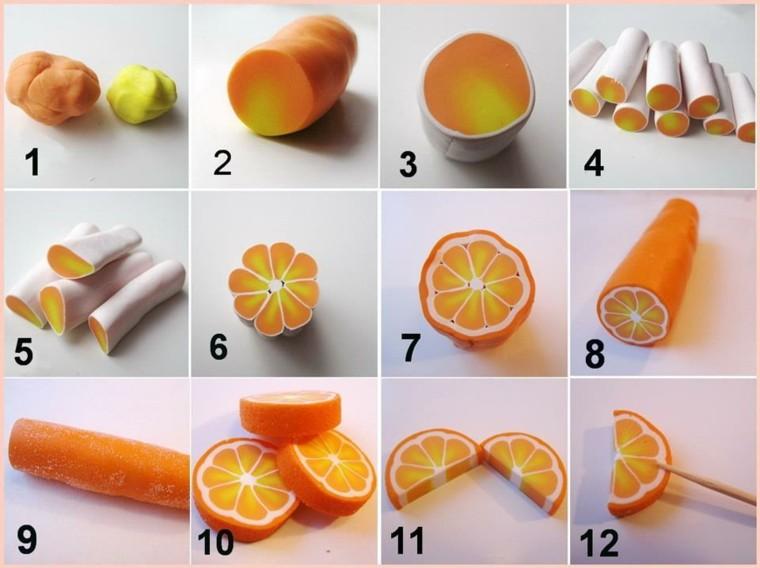 plasticine orange shape crafts