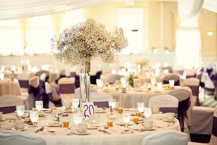 centers table precious weddings simple ideas