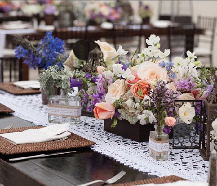 centers table precious weddings rustic design ideas