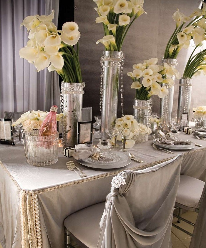 centers table precious weddings color silver ideas