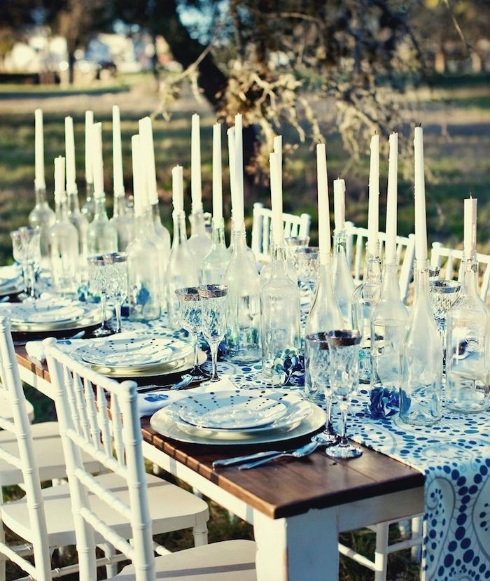 centers table for weddings bottles candles ideas