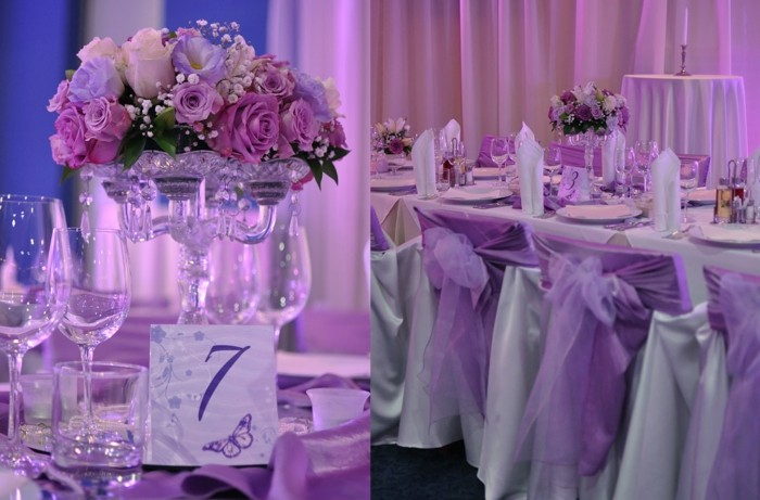 centerpieces for weddings purple color ideas