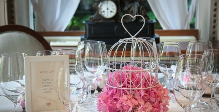 wedding centers white cage flowers ideas