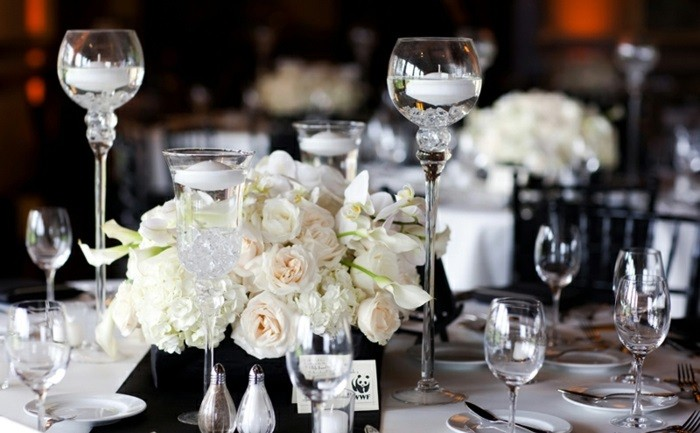 center table white black wedding ideas