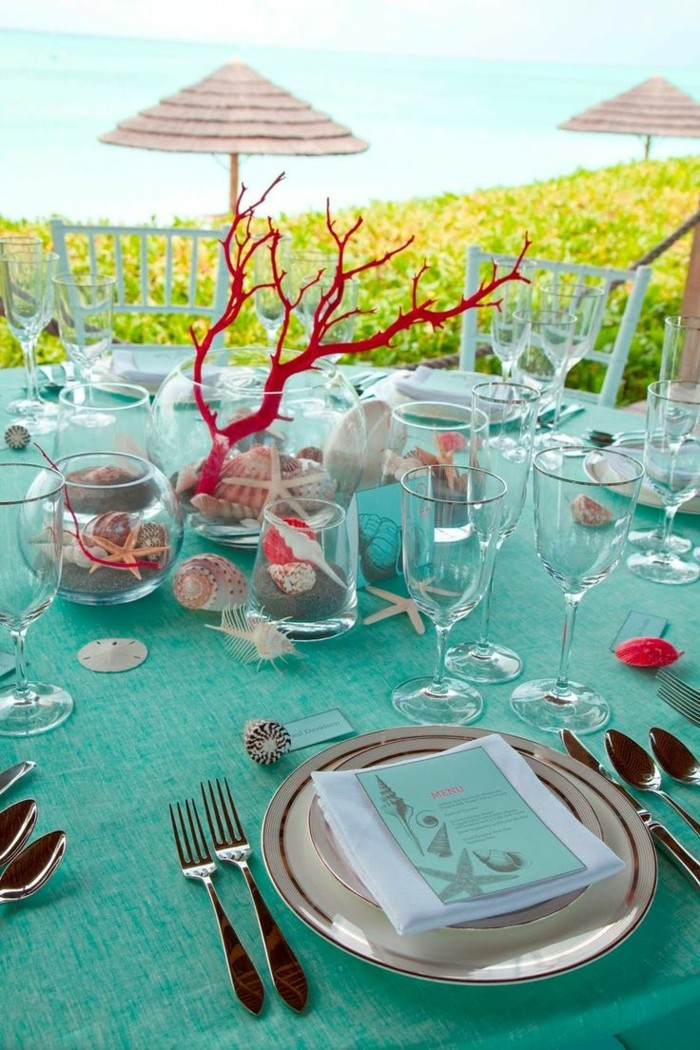 centers table weddings shells ideas