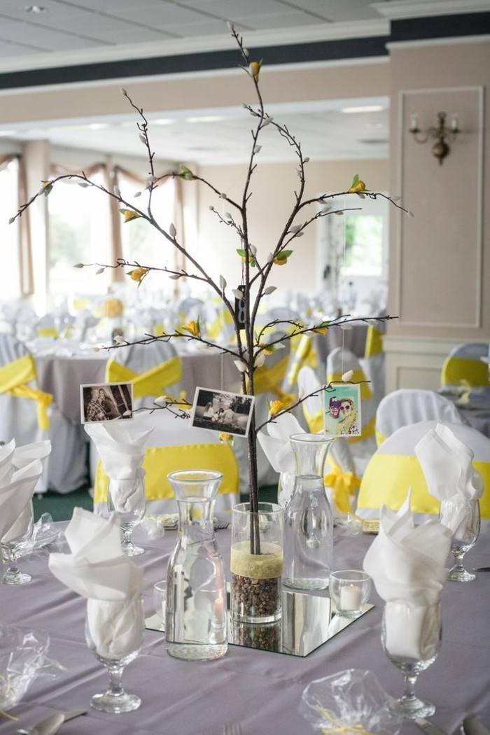 centers table weddings branches simple style ideas
