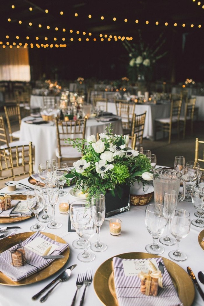 centers table weddings dishes color gold ideas