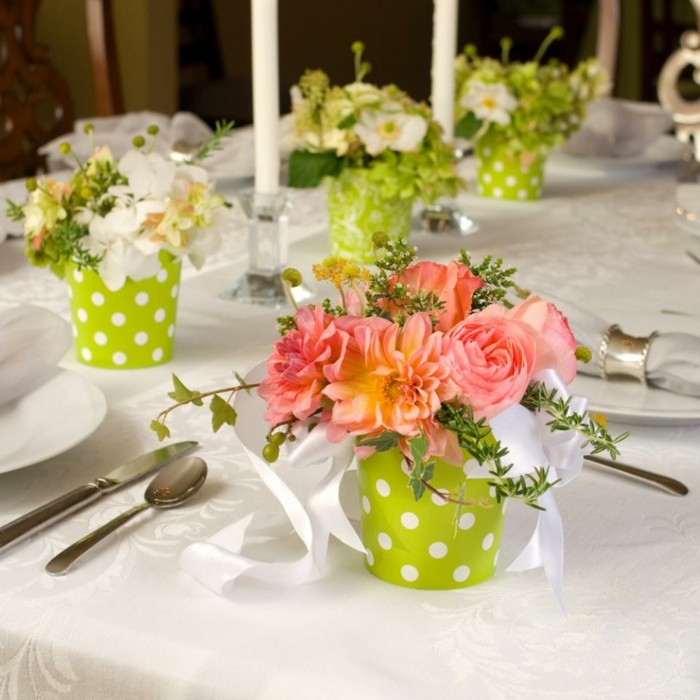centers weddings green white flowers ideas