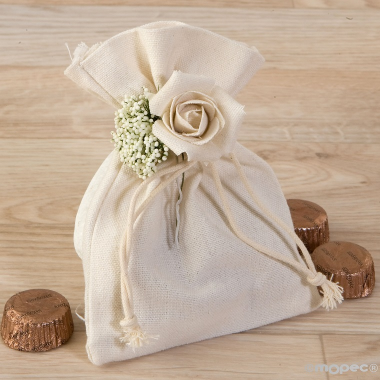 Details of wedding-guests-bag-cotton