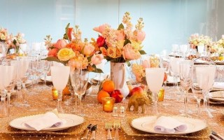 centers table precious weddings elephants fruits ideas