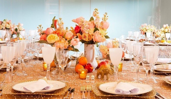 centers table precious weddings elephants fruits ideas