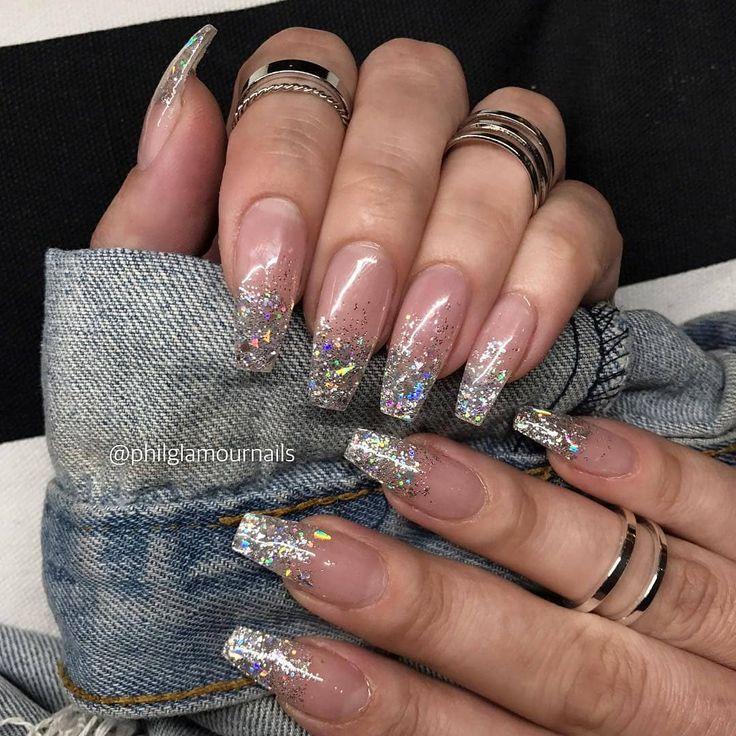 transparent coffin nails