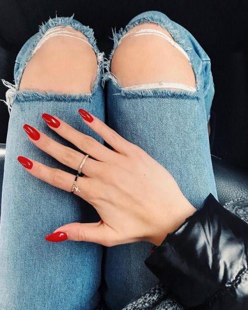 #rednails #longnails #red #nails #manicure