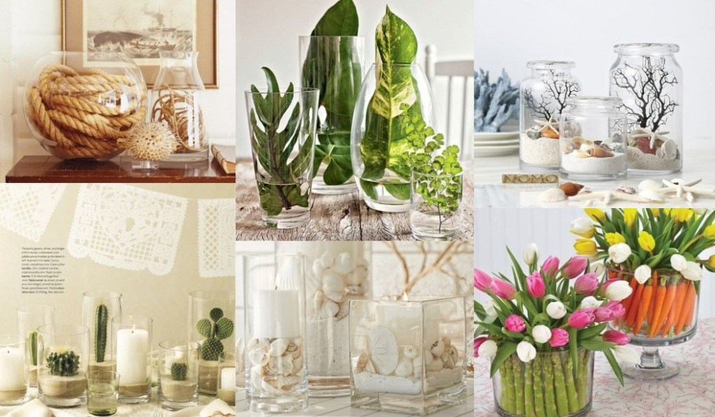 What to put in a glass vase