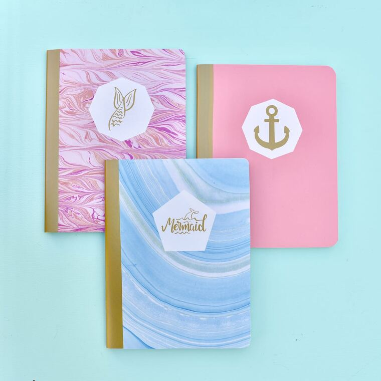 color decorated notebooks