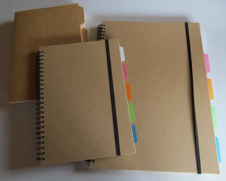 paper decorated notebooks