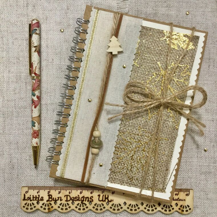 brown decorated notebooks