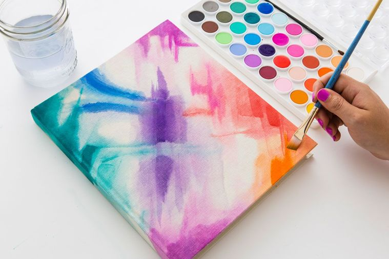 watercolor decorated notebooks