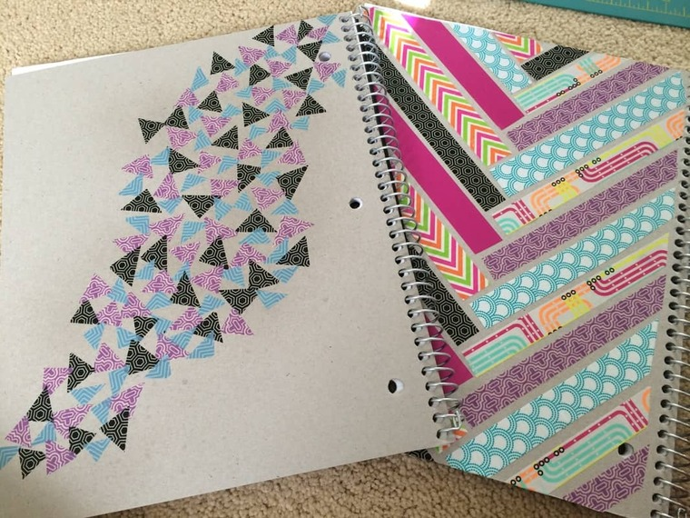 decorated notebooks ribbons