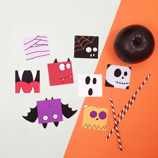 Easy Halloween crafts with free templates