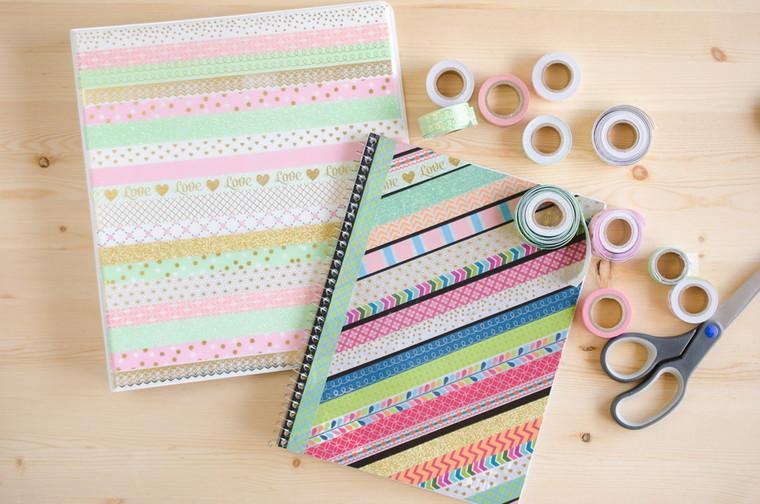 washi decorated notebooks