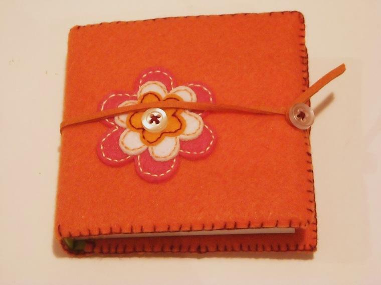 felt decorated notebooks