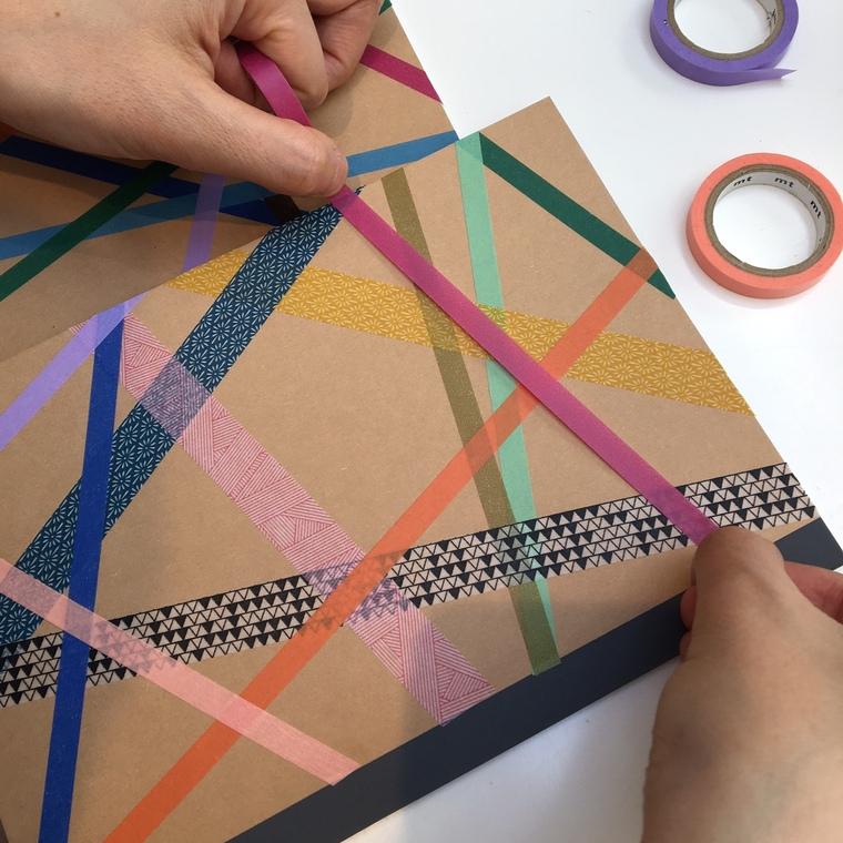 adhesive decorated notebooks