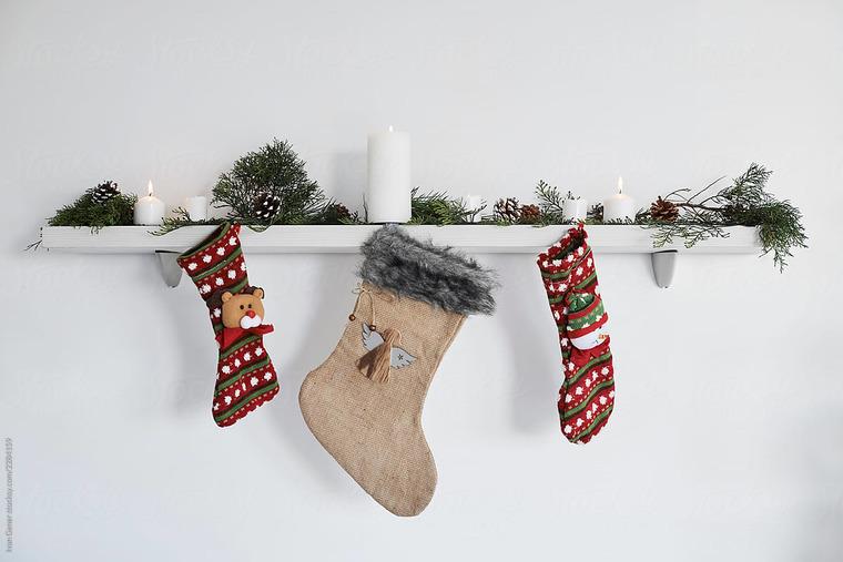 simple christmas socks