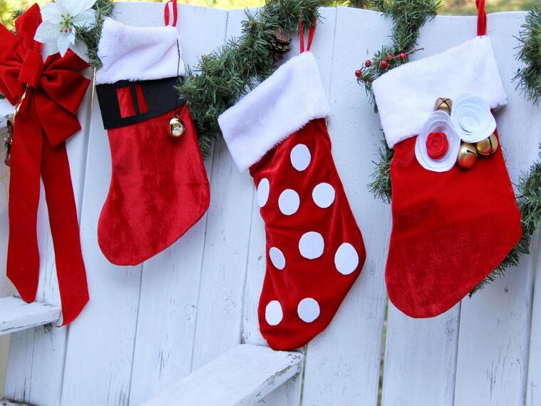 outdoor christmas socks