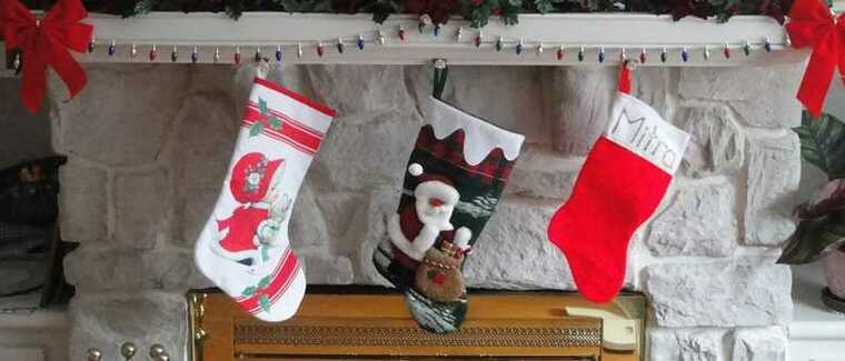 Christmas socks ledge