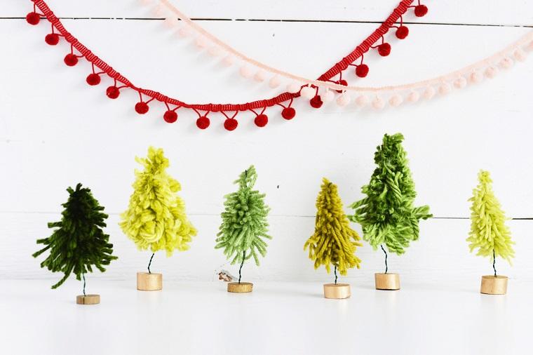 original Christmas crafts threads colors