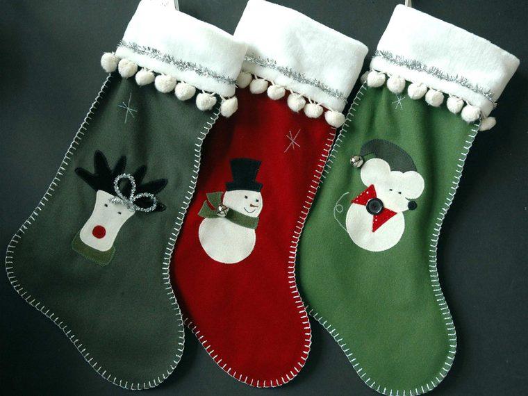 Christmas doll socks