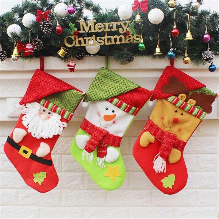 felt christmas socks
