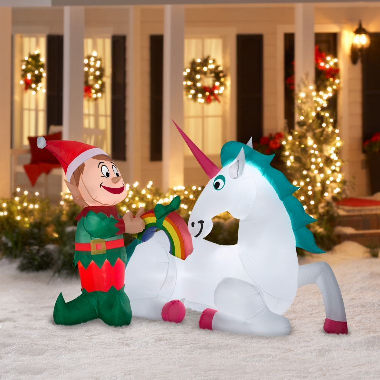 inflatable christmas elves