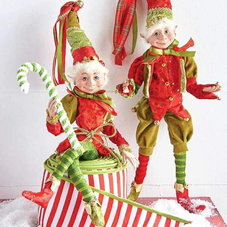 Christmas elves colors