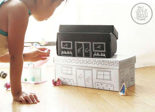 Organize the kids' DIY toys