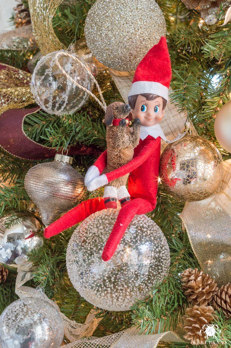 Christmas elves ornament