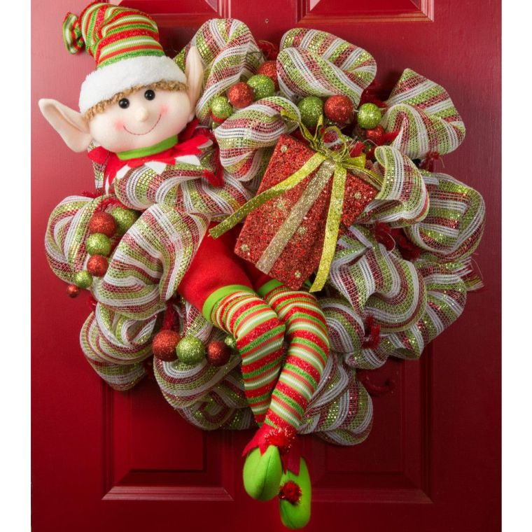 Christmas elves door