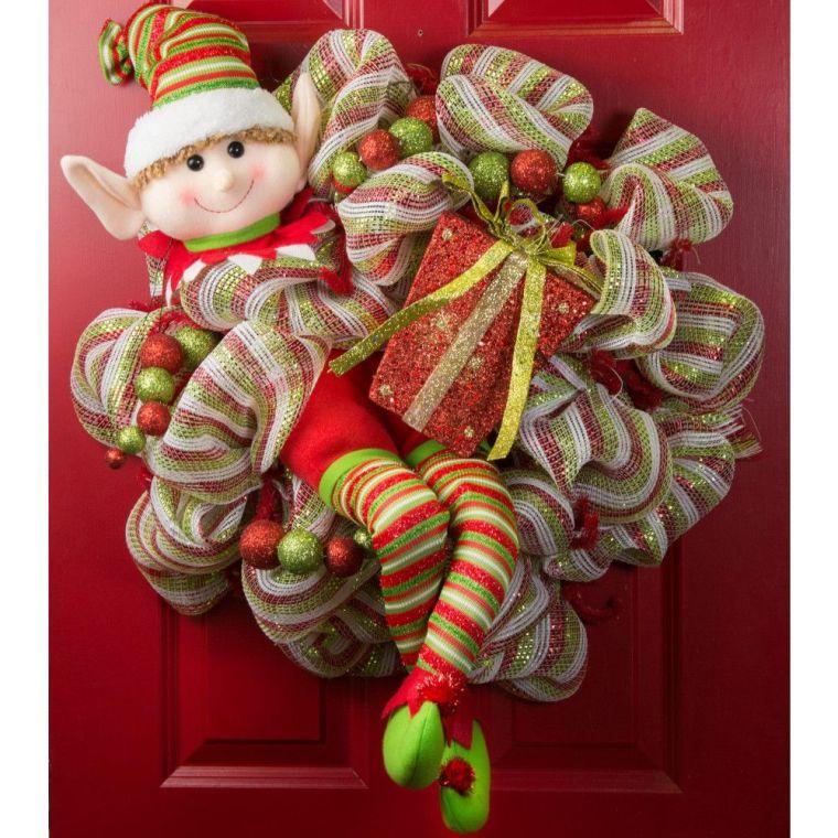 Christmas elves door