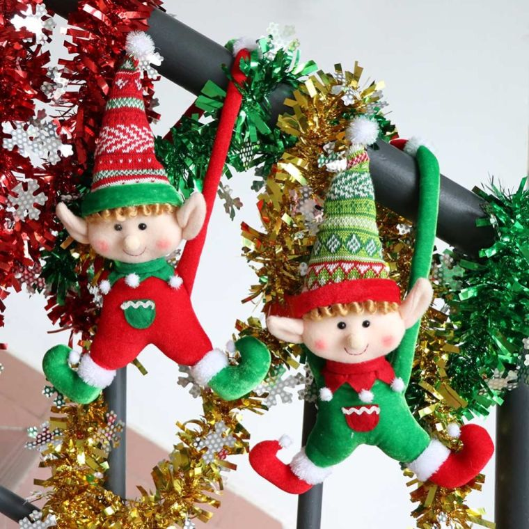 Christmas elves hang