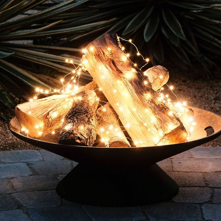 decorate balcony small fire pit
