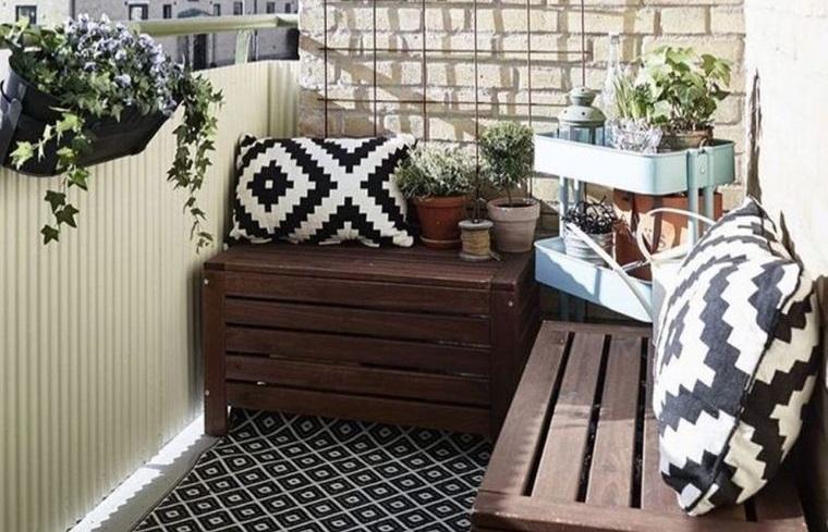 decorate balcony small stone wall