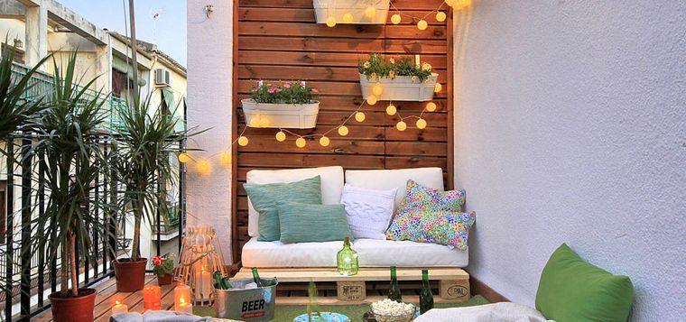 decorate small lighting balcony
