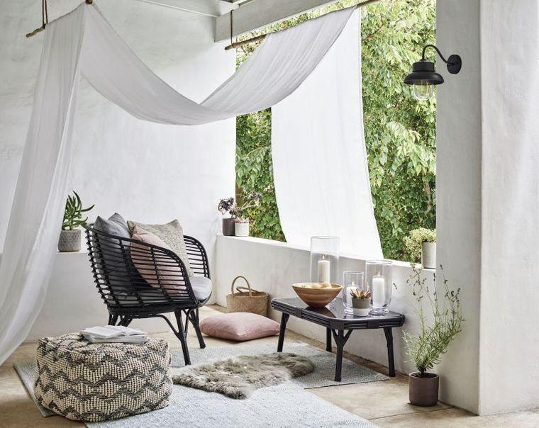 decorate small canopy balcony