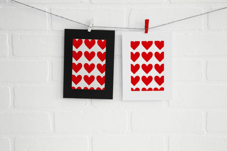 hearts in photo frames