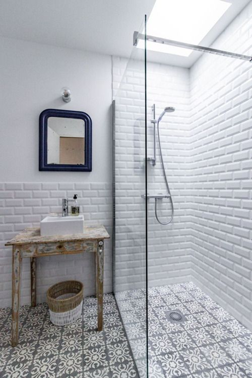 Half tile half painted bathroom