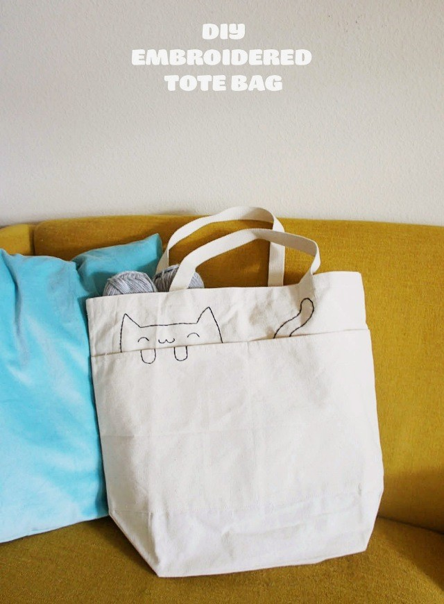"DIY-Embroidered-Cat-Tote-Bag-Hero ""src ="" https://www.tendenciesydecoration.com/wp-content/uploads/DIY-Embroidered-Cat-Tote-Bag-Hero.jpg"