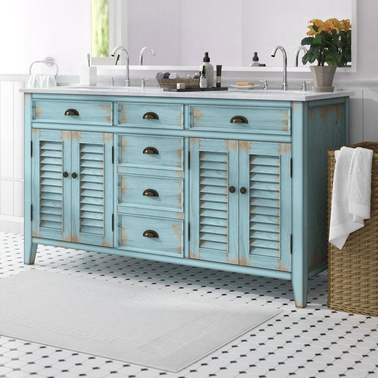 DIY double sink bathroom vanity